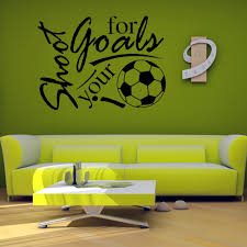 45 60cm shoot for your goal football english letter pattern home 45 60cm shoot for your goal football english letter pattern home decorative mural wallpaper removable wall sticker in wall stickers from home garden on