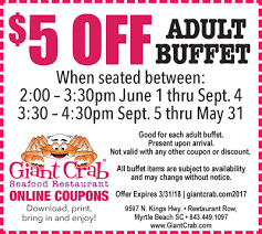 Seafood Buffets In North Myrtle Beach by Crab Coupons Mobile Giant Crab Seafood Myrtle Beach South