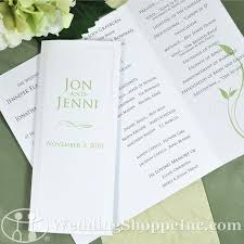 blank wedding programs wedding programs