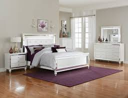 homelegance alonza bedroom set with led lighting brilliant white