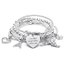 solid silver charm bracelet images 24 best my guardian angel annie haak images 50th jpg