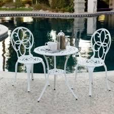 Fleur De Lis Patio Furniture Cast Aluminum Bistro Sets Foter