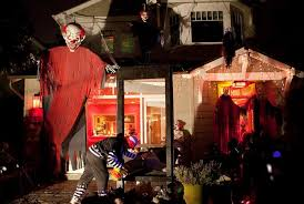 Decorated Homes For Halloween Clown Halloween Decorations Spider Web Decoration Halloween