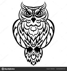 Owl Tribal Pattern Vector Illustration U2014 Stock Vector Tiverets