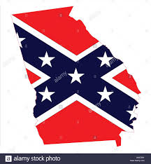 Confderate Flag Georgia Map And Confederate Flag Stock Vector Art U0026 Illustration
