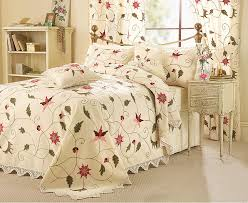 Matching Bedding And Curtains Sets The Ss Crewel Work Bedding Set Curtain Set And Cushion Covers