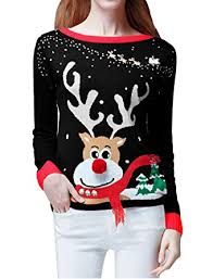 nose sweater v28 s sweater reindeer 3d