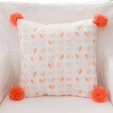peach heart pillow nursery pillows baby pillow