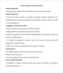 Resume For Fashion Designer Job by Designer Resume Template U2013 8 Free Samples Examples Format