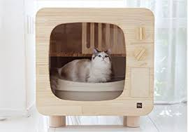 Kitty Litter Bench Amazon Com Premium Natural Wood Cat Litter Box Furniture Diy Cat