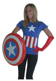 Womens Halloween T Shirts by Costumes For Women Tshirt America Costumes Marvel Captain
