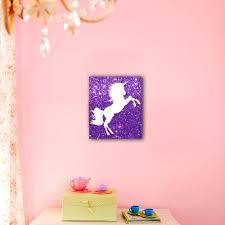 unicorn purple nursery decor canvas wall art paper blast