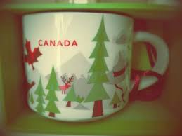 mug ornament you are here ornament canada green trees starbucks mugs