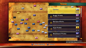 One Piece Map One Piece Burning Blood