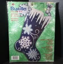 bucilla christmas stocking felt appliqué craft kit shimmer