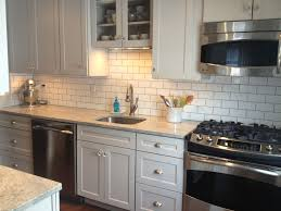 small kitchen grey cabinets subway tile kitchen grey cabinets sharkey gray cottage