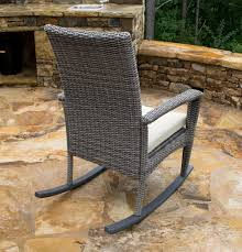 Driftwood Outdoor Furniture by Bayview Rocking Chair In Driftwood Gray Wicker