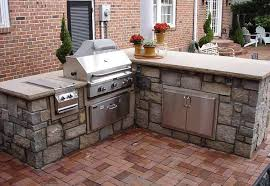 outdoor kitchen components counter height seating design and ideas - Outdoor Island Kitchen