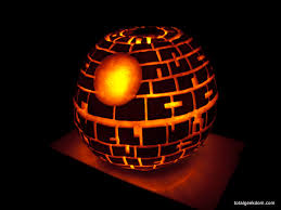 star wars death star pumpkin carving with cfl powered bulb total