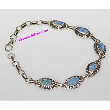 silver bracelet with stones images Silver bracelet made with real flowers heart shaped links includes JPG