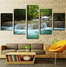 home decor paintings for sale 2017 sale rushed 5 panel waterfall painting canvas wall art