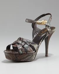 laurent tribute python snake ornament sandal 4 heel in