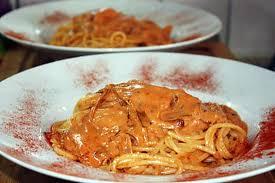 recette de cuisine all recette de spaghettoni crémeux all amatriciana