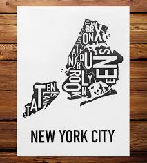 Portland Neighborhood Map Poster by Nyc Borough Map Art Print Features Local Pride Ork Posters