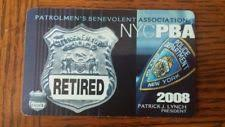 Nypd Business Cards Nyc Pba Card Police Ebay