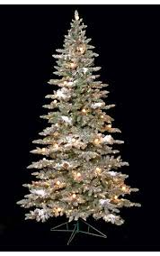 prelit flocked artificial trees