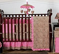 Animal Print Crib Bedding Sets Sweet Jojo Designs 9 Cheetah Animal Print Pink