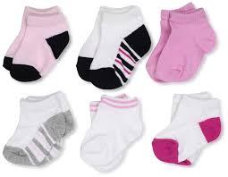 amazon com luvable friends baby basic socks 6 pack clothing