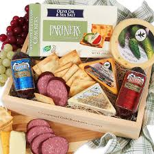 meat and cheese baskets anniversary gift baskets lovebird xo