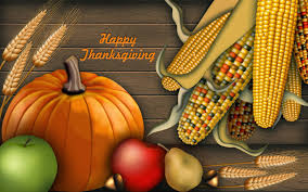 happy thanksgiving day wishes pumpkin corns hd wallpaper