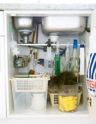 Under The Kitchen Sink Organization by Clever Storage Using Repurposed Items The Chic Site