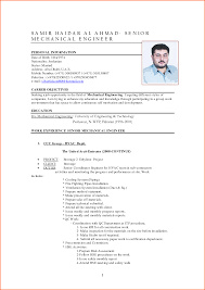 Resume Format For Experienced Mechanical Design Engineer Nice Sample Resume For Mechanical Engineers For Resume Format For