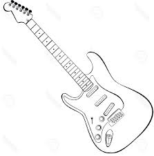 3d sketches of a guitar drawing of sketch