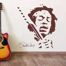 online get cheap classical music vinyl aliexpress com alibaba group classis jimmy hendrix music wall vinyl sticker black brown wall stickers home decor bedroom wall decals