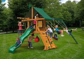 latitude wooden swing set kid u0027s wood swing sets