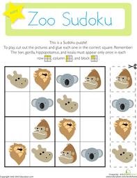zoo sudoku worksheet education com