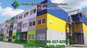 hebei baofeng steel container house show youtube