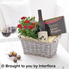 Wine And Chocolate Gift Basket Luxury Chocolates And Red Wine Gift Basket Lily Blossom Florist