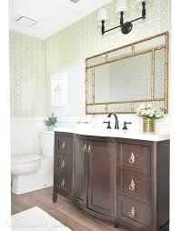Gold Mirror Bathroom Brass In The Bathroom Is Back Jenna Burger