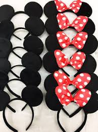 mickey mouse party 24 pc minnie mickey mouse ears headbands black disney bow