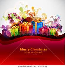 happy christmas cartoon background download free vector art
