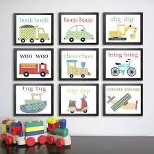 Transportation Nursery Decor Printable Transportation Nursery Instant Digital