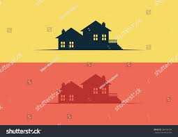 House Silhouette by House Silhouette Flat Logo Vector Stock Vector 384104794