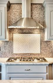 How To Install A Backsplash In A Kitchen Stainless Range Hood And Glass Tile Backsplash Kitchen Interior