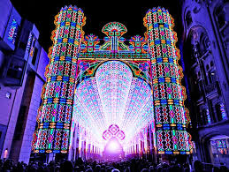 amazing cathedral made from 55 000 leds rises at belgium s festival