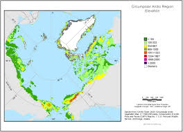 Map Of Anchorage Alaska by Gina Circumpolar Arctic Elevation Map